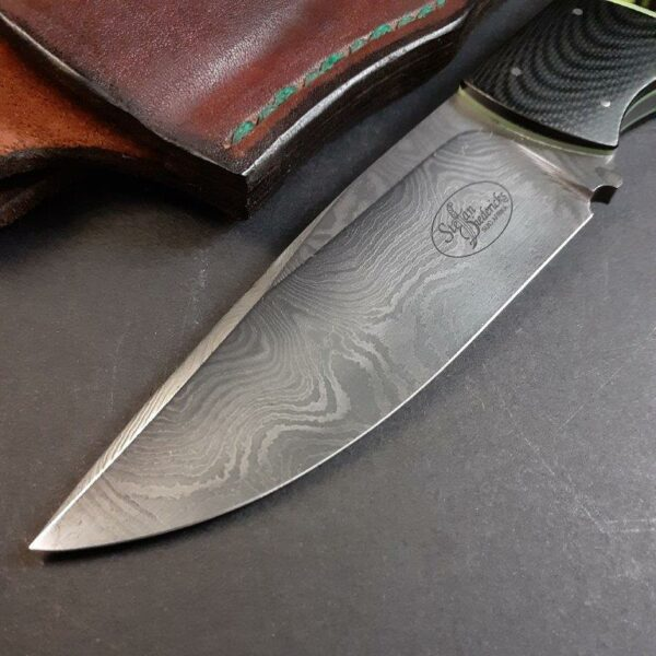 No 2. Hunter - Damascus & Black G10 & Kirinite