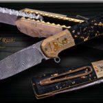 Jan Whal Duke Gold Rush Liner Lock Flipper