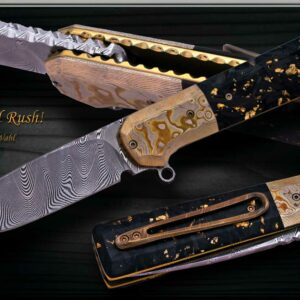 Jan Whal Duke Gold Rush Liner Lock Flipper