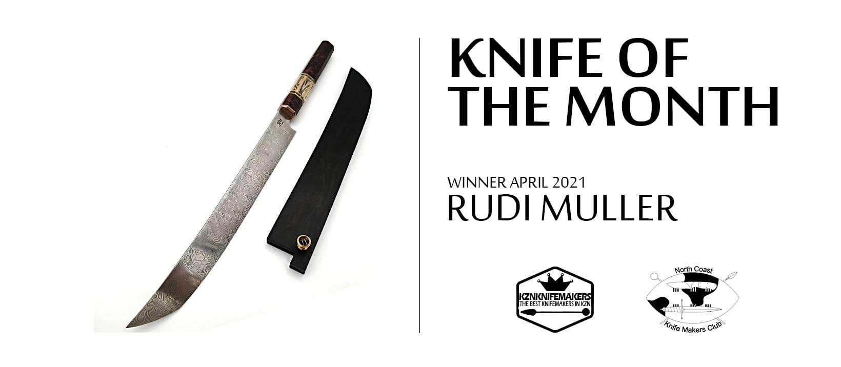 Knife of the Month Rudi Muller