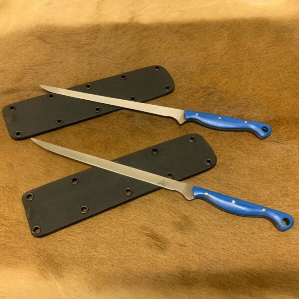 Alex Conchar N690 Filiting Knives blue G10