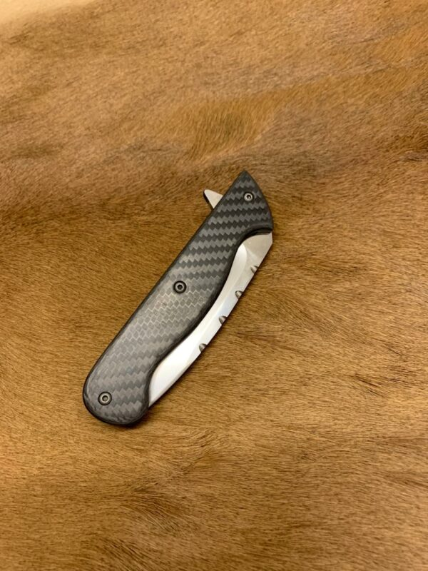 Alex Conchar Knives - Closed Carbon Fiber Fipper with pounch