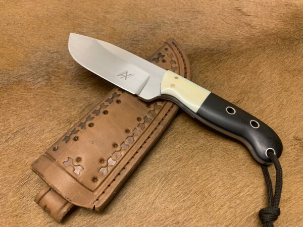 Alexander Conchar - Hippo Tooth Hunting Knife with handstitched leather sheath