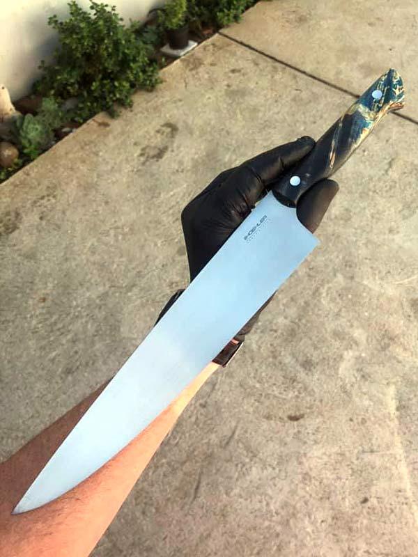 hoehler handmade braai kitchen knife 270mm